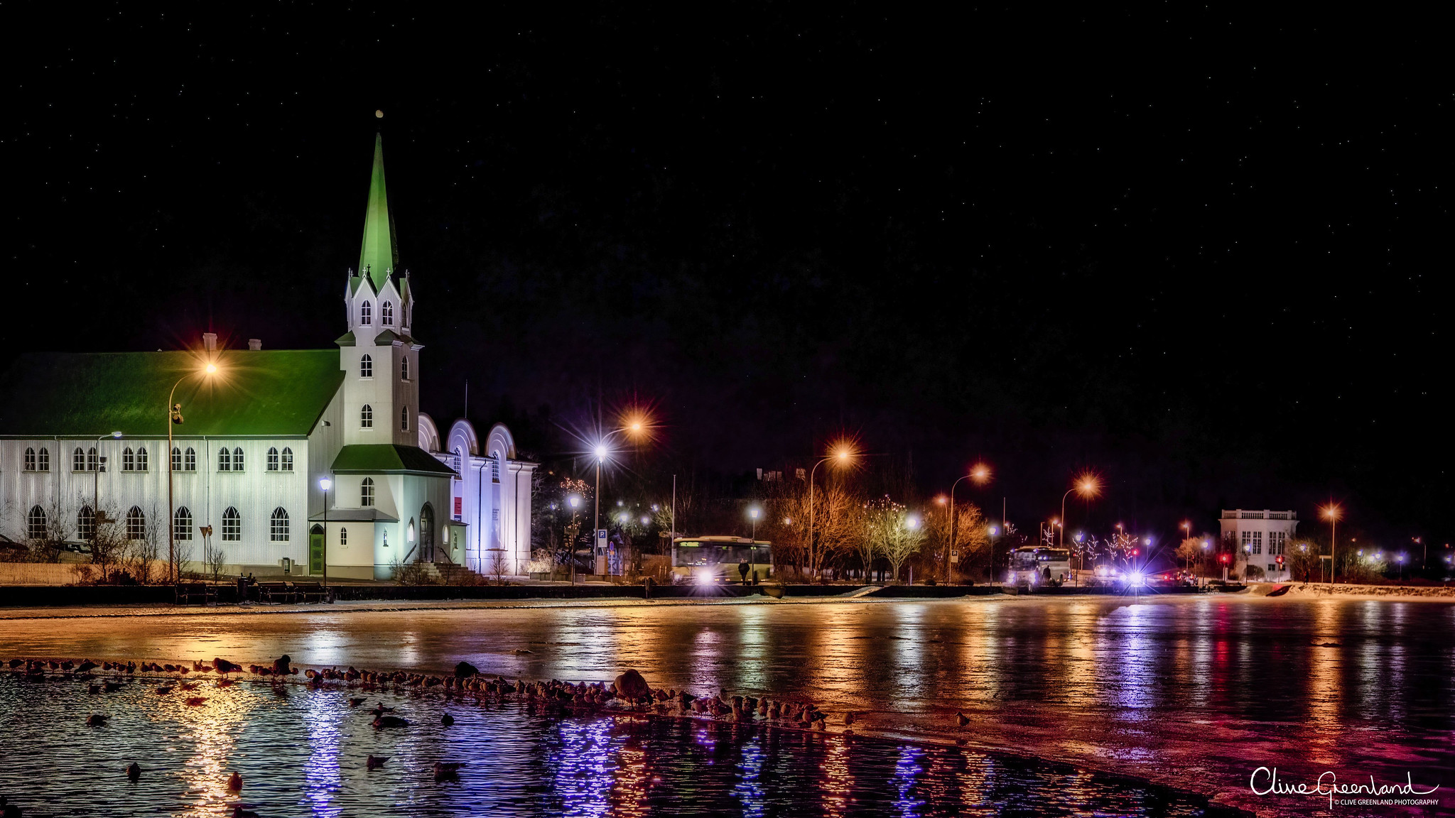 Permalink to:Reykjavík city lake, Iceland